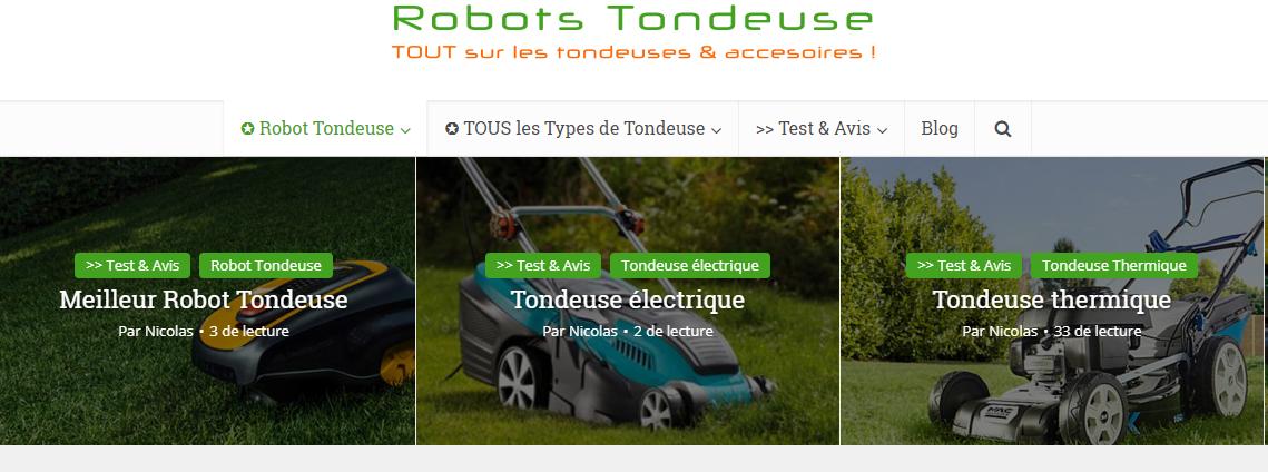 Comparatif de robots tondeuse