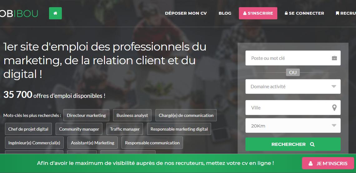 JobIbou : des offres d'emploi en marketing