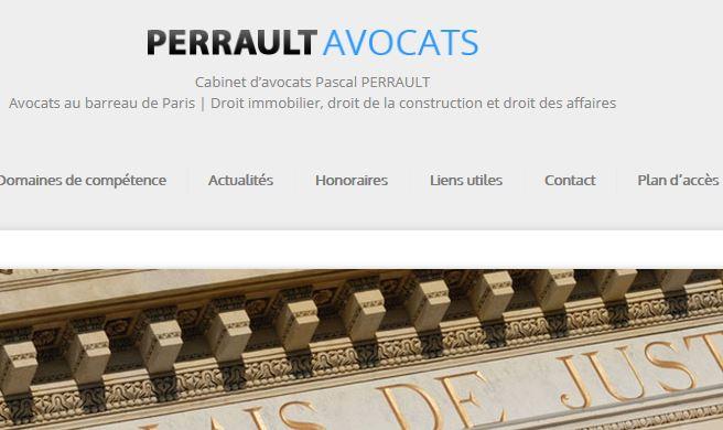 Pascal Perrault: avocat en droit immobilier à Paris