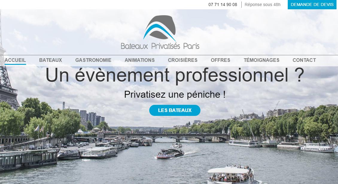Service de location de bateau à Paris